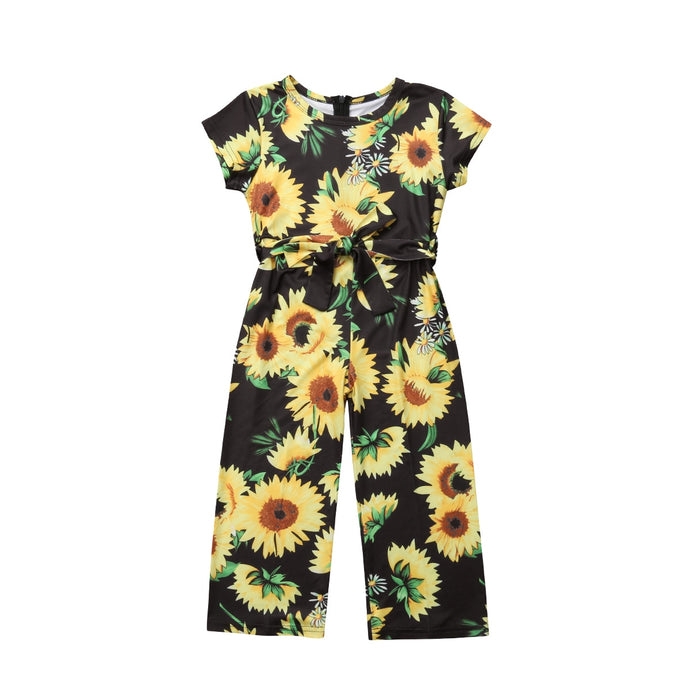 Sleeveless Sunflower Jumpsuit - Kids Shoe Shack