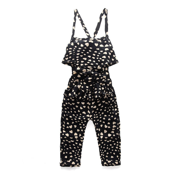 Heart Print Jumpsuit - Kids Shoe Shack