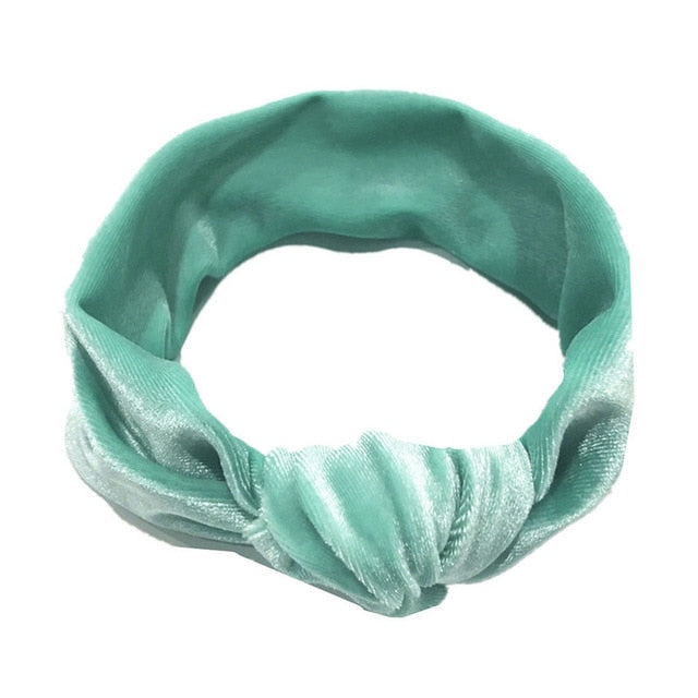Velvet Top Knot Headwrap - Assorted Colours - Kids Shoe Shack