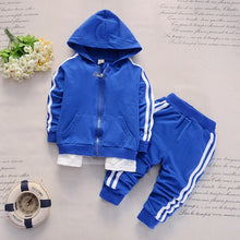 Load image into Gallery viewer, Striped Hooded Tracksuit - Kids Shoe Shack