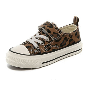 Addison Leopard Canvas Shoes - Kids Shoe Shack