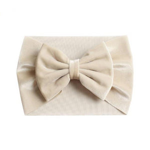 Velvet Bow Knot Headwrap - Kids Shoe Shack