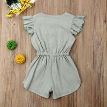 Load image into Gallery viewer, Bow-Knot Ruffled Romper - Kids Shoe Shack