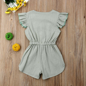 Bow-Knot Ruffled Romper - Kids Shoe Shack