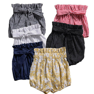 Bow Knot Waist Bloomers - Kids Shoe Shack