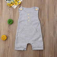 Load image into Gallery viewer, Overall Pocket Romper - Kids Shoe Shack