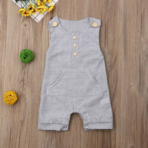 Overall Pocket Romper - Kids Shoe Shack