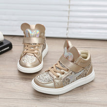 Load image into Gallery viewer, Abigail Glitter Hightops - Kids Shoe Shack