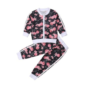Floral Sweatsuit Set - Kids Shoe Shack