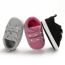 Load image into Gallery viewer, Studded Glitter Sneakers - Kids Shoe Shack