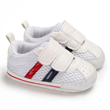 Load image into Gallery viewer, Stiped Canvas Sneakers - Kids Shoe Shack