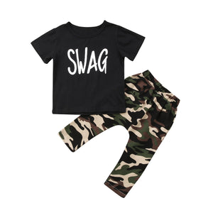 Swag Camo Pants Set - Kids Shoe Shack