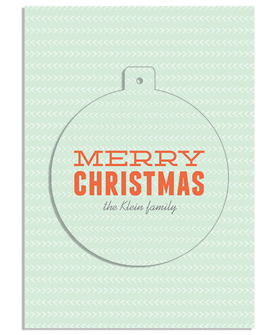 Christmas Dot Circle Luxe Pop Card