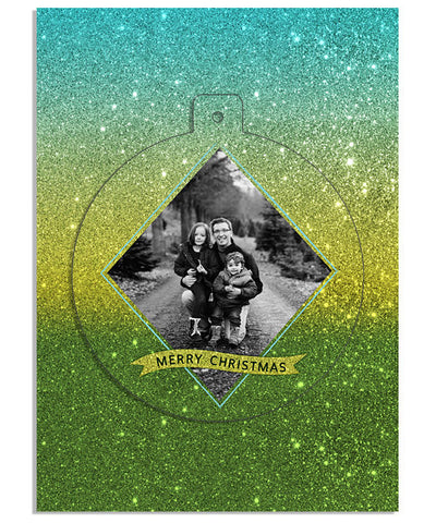 Christmas Tree Circle Luxe Pop Card