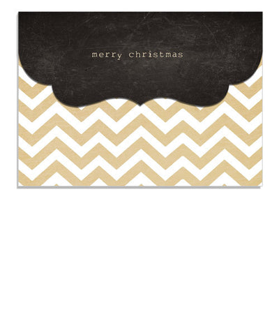 Craft Chevron 7x5 Top Folded Luxe Card and Envelope Liner