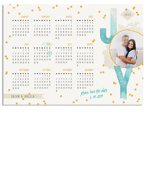 Joy Save The Date 7x5 Press Magnet - 2017-2020