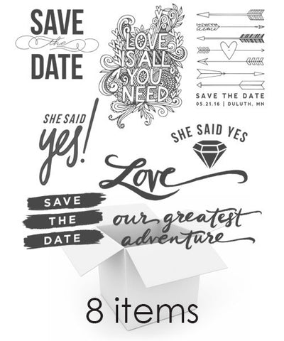 Modern Love Save The Date Overlays