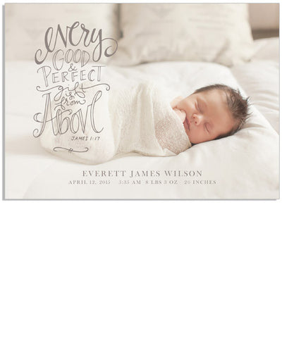 Perfect Gift 7x5 Flat Card