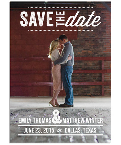 Poster Save The Date 2 5x7 Flat Card