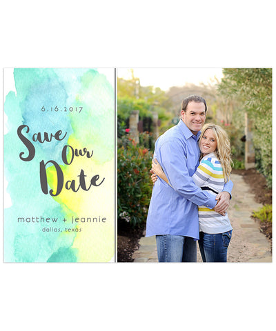 Stafford Engagement 7x5 Flat Card