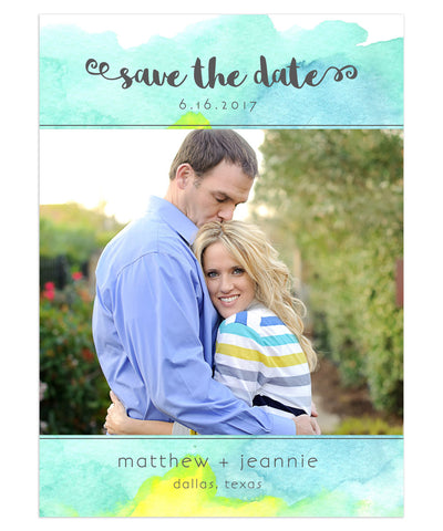 Stafford Engagement 5x7 Flat Card
