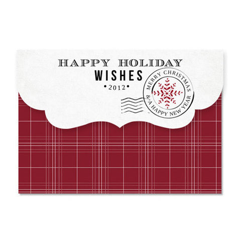 Christmas Traditions 7x5 Top Folded Luxe Card & Address Label