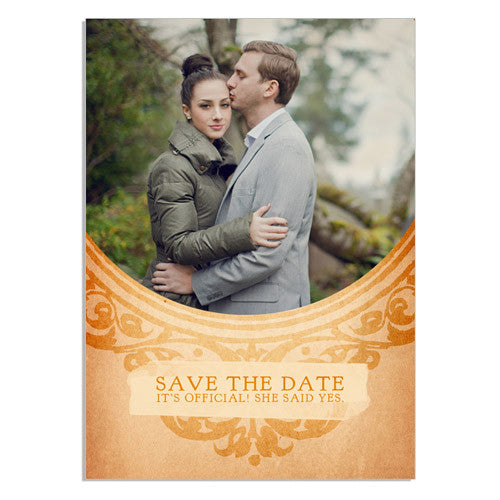 Over the Moon Save the Date 5x7 Flat Card