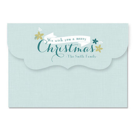 Petite Floral 7x5 Top Folded Luxe Card & Address Label