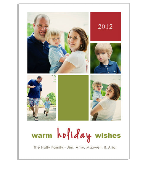 Warm Wishes 5x7 Flat Card