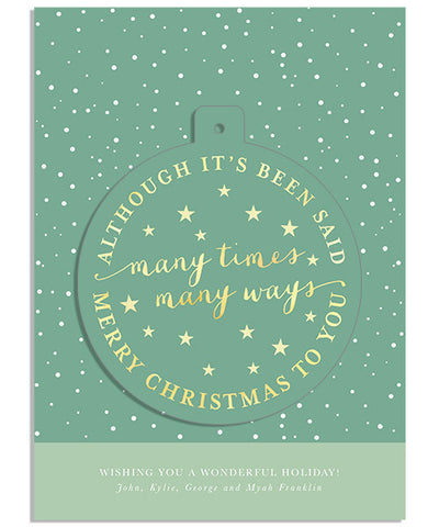 A Simple Phrase 5x7 Circle Luxe Pop Card, Address Label and Envelope Liner