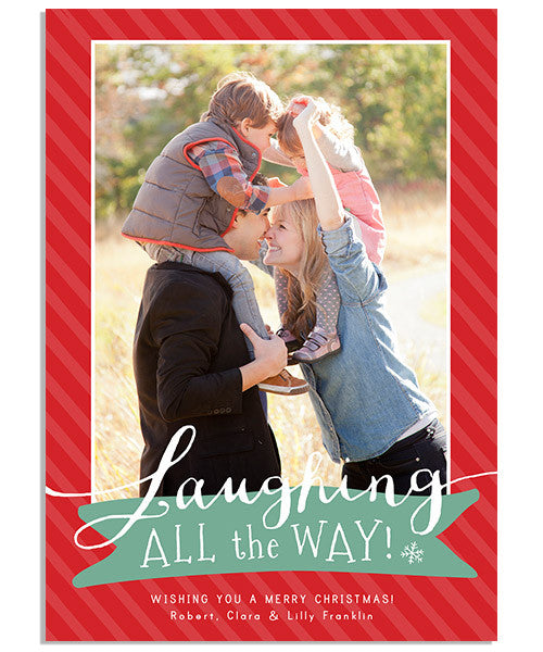 Christmas Laughter 5x7 Flat Card