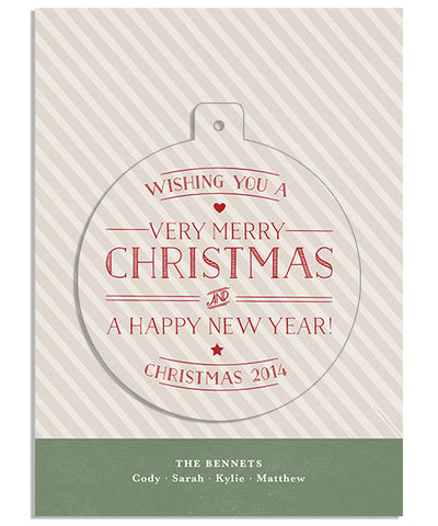Christmas Traditions Circle Luxe Pop Card and Envelope Liner