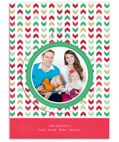 Christmas Wishes Circle Luxe Pop Card and Envelope Liner