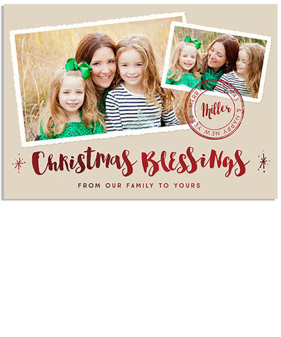 Blessings Collage 7x5 Christmas Blessing Foil Press Card