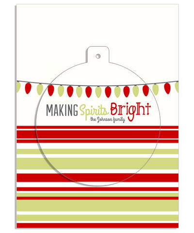 Bright Spirits 5x7 Circle Luxe Pop Card, Address Label and Envelope Liner