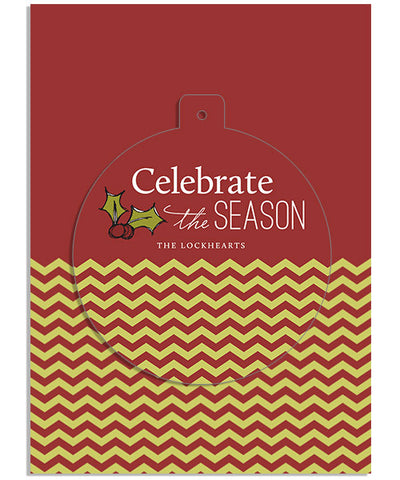 Celebration 5x7 Circle Luxe Pop Card, Address Label and Envelope Liner