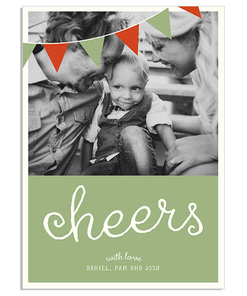 Cheers 5x7 Flat Card and Address Label