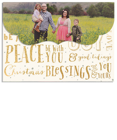 Christmas Blessings 7x5 Top Folded Luxe Card