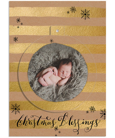Classic Christmas 5x7 Circle Luxe Pop Card