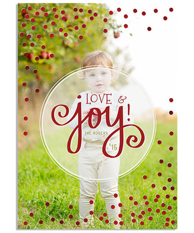 Confetti Love Overlay 5x7 Dots Foil Press Card