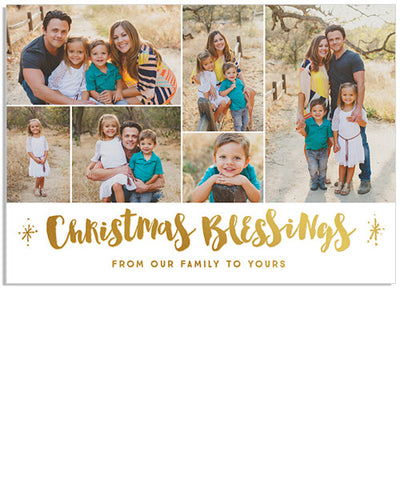 Flurry 7x5 Christmas Blessings Foil Press Card