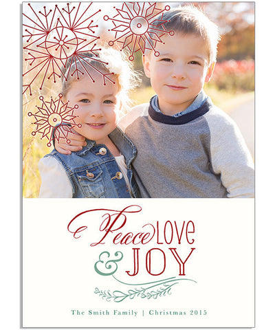 Fruit of the Spirit 5x7 Artful Snowflakes Foil Press Card