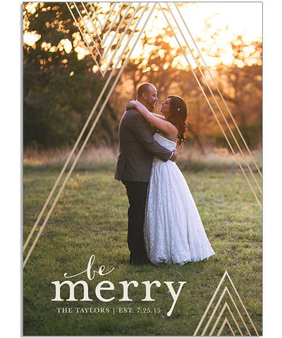 Geometric Merry 5x7 Echo Vertical Foil Press Card