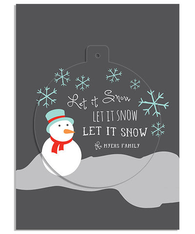 Glistening Snow 5x7 Circle Luxe Pop Card, Address Label and Envelope Liner