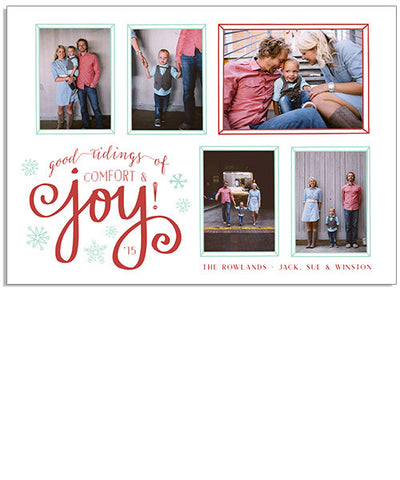 Good Tidings 7x5 Flat Card