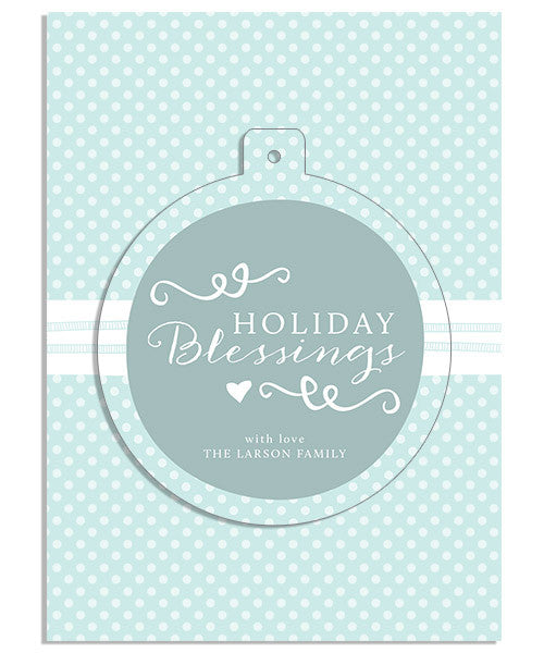Holiday Blessings 5x7 Circle Luxe Pop Card, Address Label and Envelope Liner