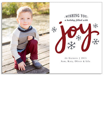 Joyful Snow 7x5 Flat Card