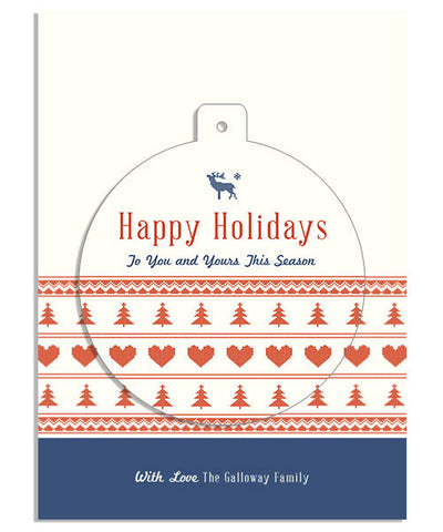 Knit Holiday Two 5x7 Circle Luxe Pop Card