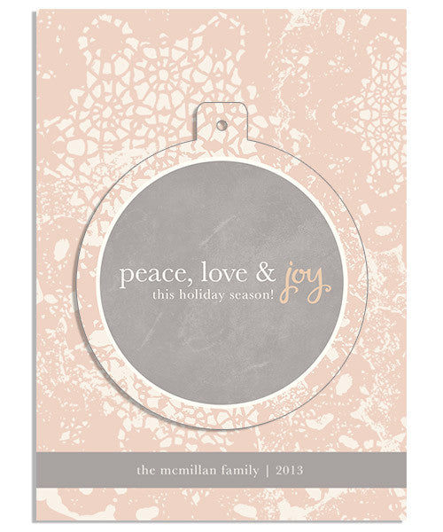 Lovely 5x7 Circle Luxe Pop Card