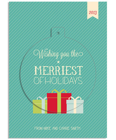 Merriest 5x7 Circle Luxe Pop Card, Address Label and Envelope Liner